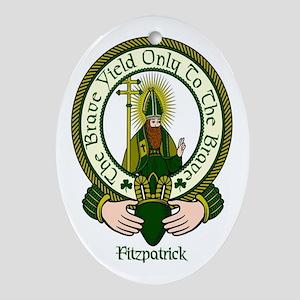Fitzpatrick Clan Motto Oval Ornament