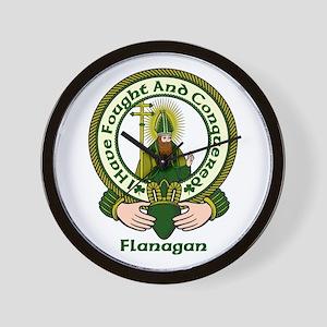 Flanagan Clan Motto Wall Clock
