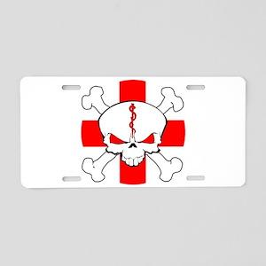 Medic Skull Aluminum License Plate