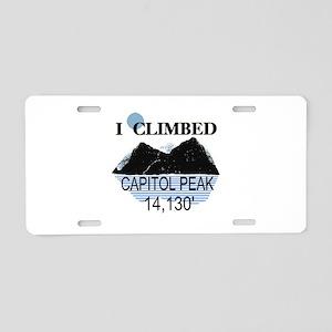I Climbed Capitol Peak Aluminum License Plate