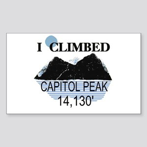 I Climbed Capitol Peak Sticker (Rectangle)