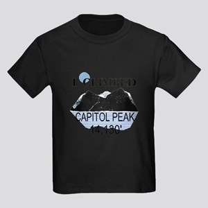 I Climbed Capitol Peak Kids Dark T-Shirt