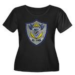 USS COWELL Women's Plus Size Scoop Neck Dark T-Shi