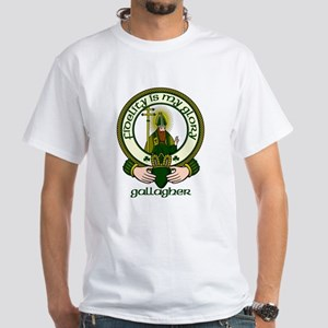 Gallagher Clan Motto White T-Shirt