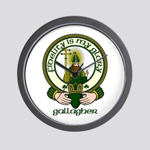 Gallagher Clan Motto Wall Clock