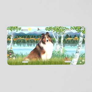 Birches-Shetland Sheepdog 7 Aluminum License Plate