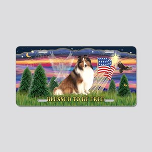 Free - Shetland Sheepdog Aluminum License Plate