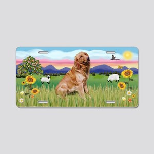Summer Field/Golden (B1) Aluminum License Plate