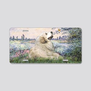 By the Seine-Great Pyrenees Aluminum License Plate