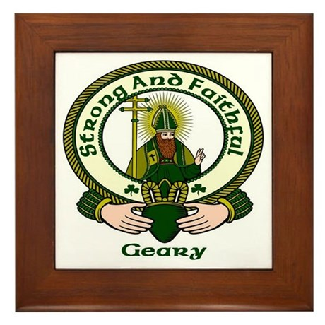 Geary Clan Motto Framed Tile