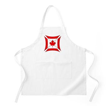 Canadian Biker Cross BBQ Apron