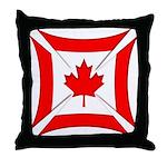 Canadian Biker Cross Throw Pillow