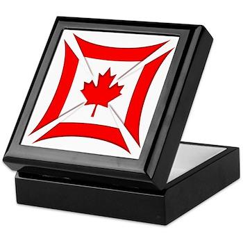 Canadian Biker Cross Keepsake Box