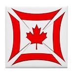 Canadian Biker Cross Tile Coaster