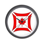 Canadian Biker Cross Wall Clock
