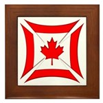 Canadian Biker Cross Framed Tile