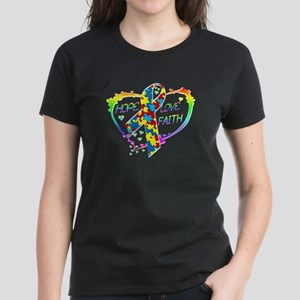 Hope Love Faith Women's Dark T-Shirt