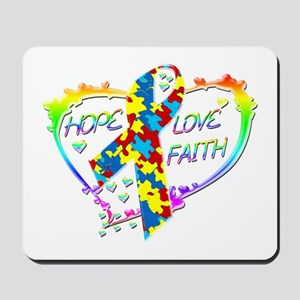 Hope Love Faith Mousepad