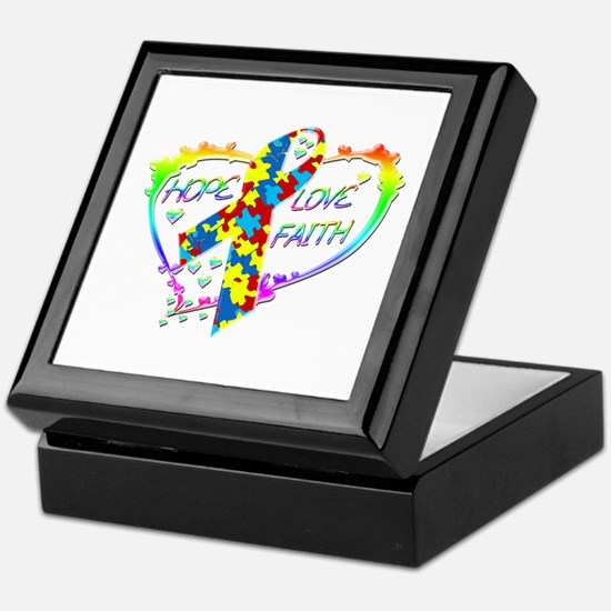 Hope Love Faith Keepsake Box