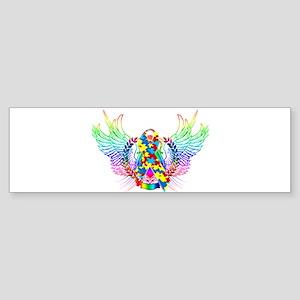 Awareness Tribal Puzzle Sticker (Bumper)
