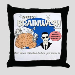 SPEEDY BRAINWASH Throw Pillow