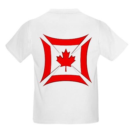Canadian Biker Cross Kids T-Shirt