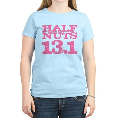 Half Nuts Half Marathon Pink Women's Light T-Shirt