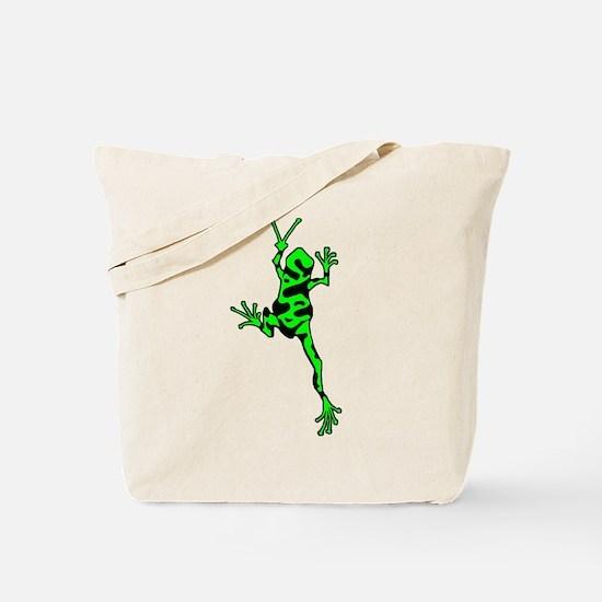 Green Peace Frog Tote Bag