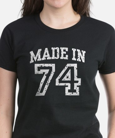 Made In 74 Women's Dark T-Shirt