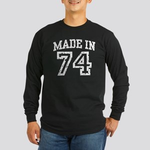 Made In 74 Long Sleeve Dark T-Shirt