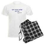KEEP YOUR CRUMBS OFF ME! Men's Light Pajamas