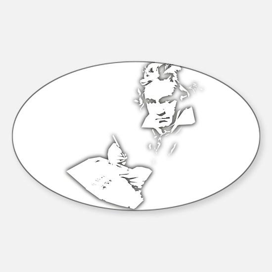 Ludwig Van Beethoven Sticker (Oval)