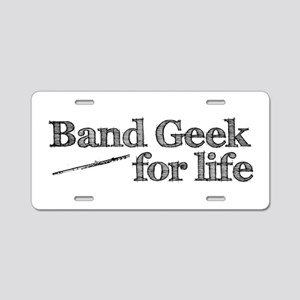Flute Band Geek Aluminum License Plate