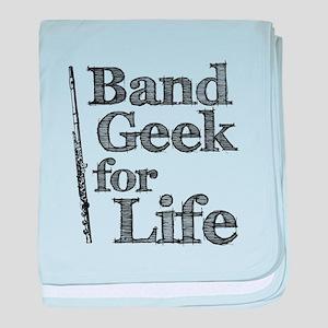 Flute Band Geek baby blanket