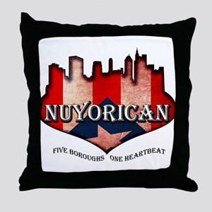 NuYoRicaN Throw Pillow