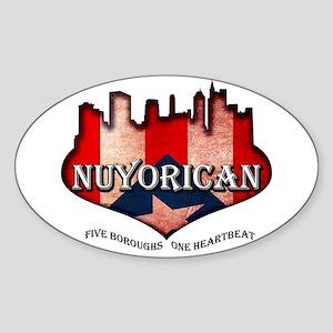 NuYoRicaN Sticker (Oval)
