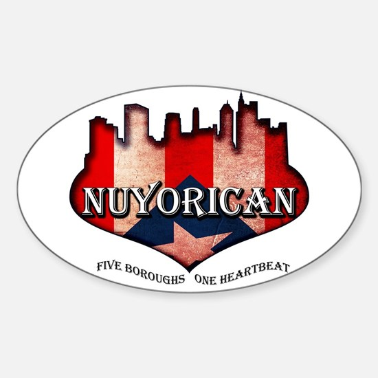 NuYoRicaN Sticker (Oval)