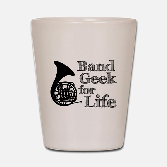French Horn Band Geek Shot Glass