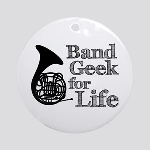 French Horn Band Geek Ornament (Round)