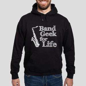 Saxophone Band Geek Hoodie (dark)