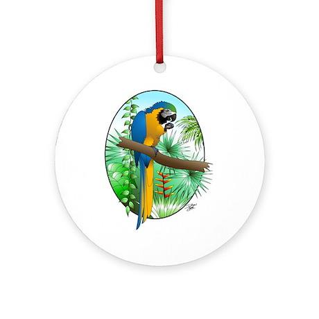 Macaw-BG Ornament (Round)