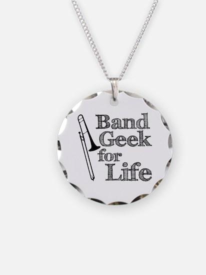 Trombone Band Geek Necklace