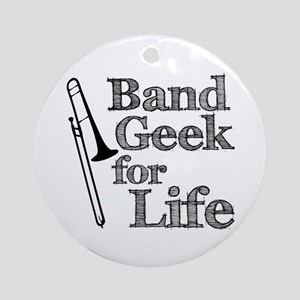 Trombone Band Geek Ornament (Round)