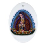 Lady of Guadalupe T3 Ornament (Oval)