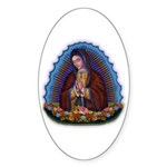 Lady of Guadalupe T3 Sticker (Oval 10 pk)