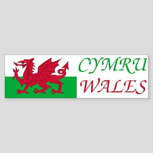 Cymru-Wales Sticker (Bumper)