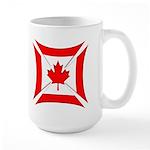 Canadian Biker Cross Large Coffee Mug