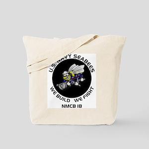 US Navy NMCB 18 Seabees Tote Bag