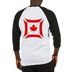 Canadian Biker Cross Baseball Jersey