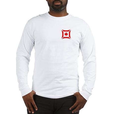 Canadian Biker Cross Long Sleeve T-Shirt